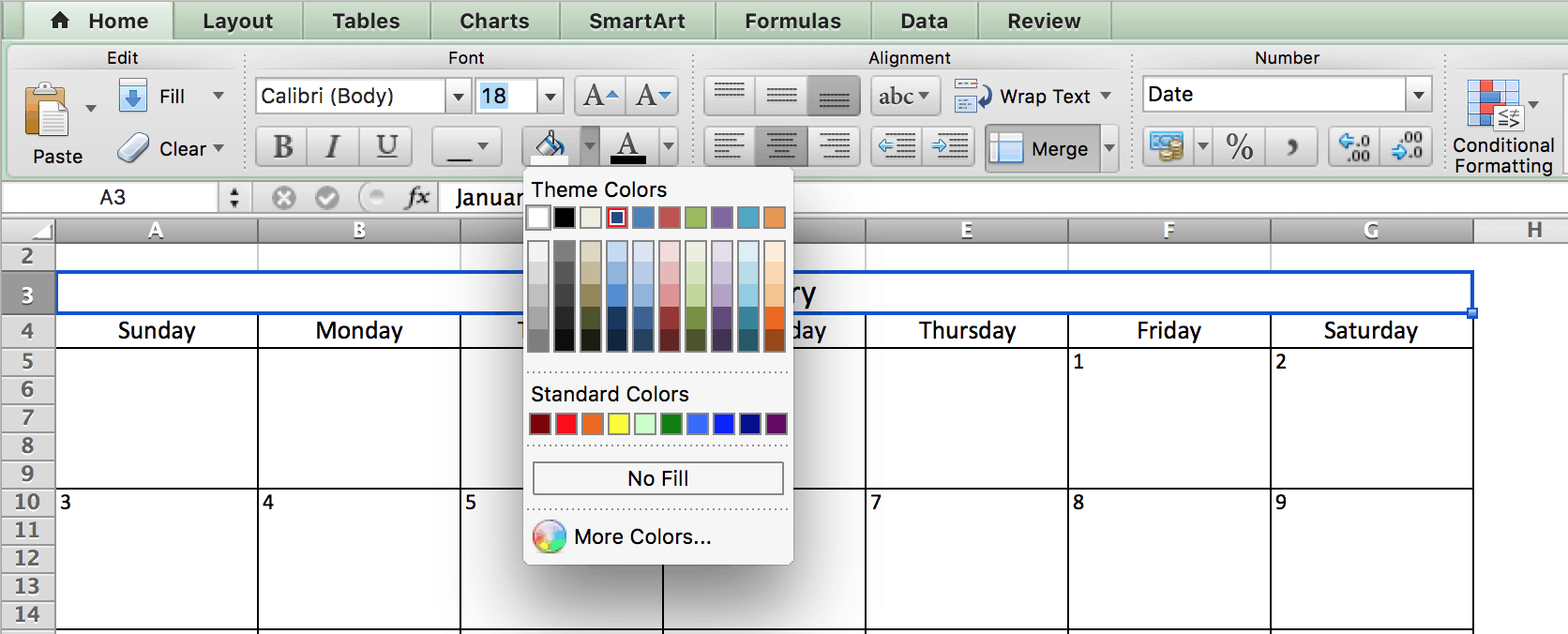 How To Insert A Yearly Calendar In Excel