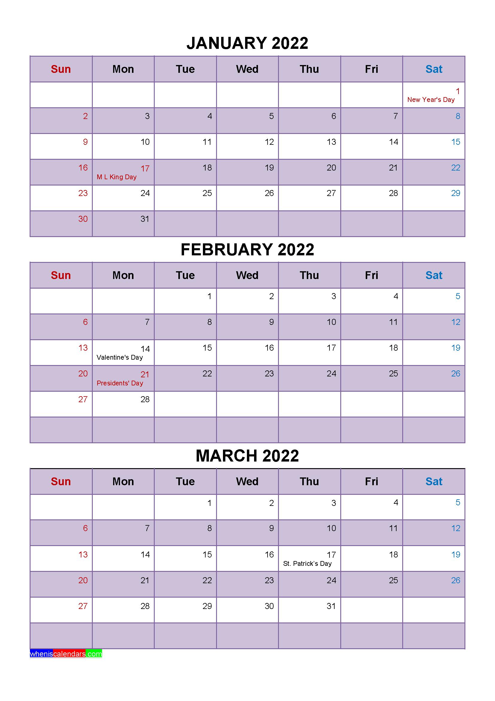 [%January February March 2022 Calendar With Holidays [Four|April 2022 Calendar Easter|April 2022 Calendar Easter%]