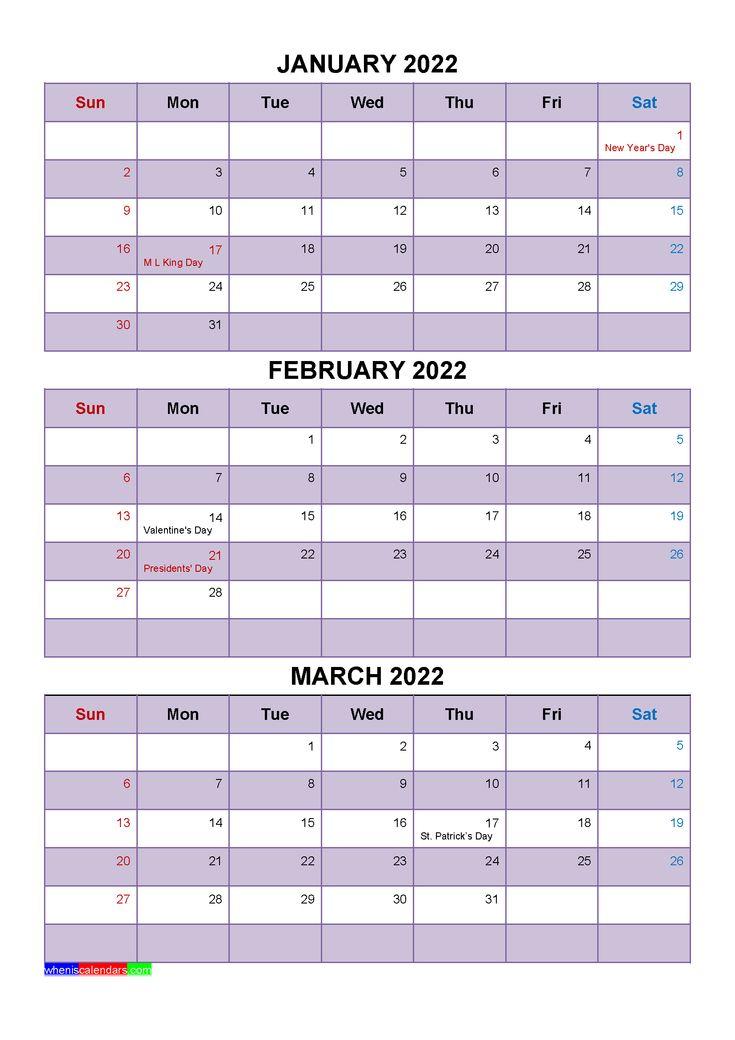 [%January February March 2022 Calendar With Holidays [Four|Calendar April 2022 With Holidays|Calendar April 2022 With Holidays%]