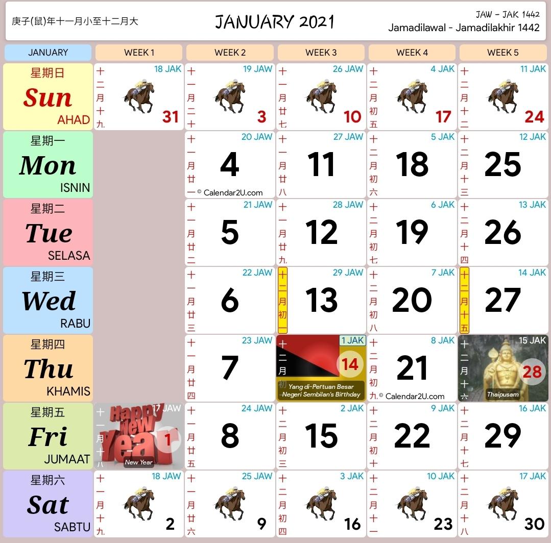 Kalendar 2021 - Rancang Percutian Anda! - Layanlah
