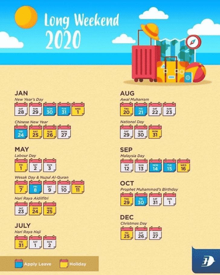 Kalendar Kuda 2020 Malaysia Tarikh Cuti Umum