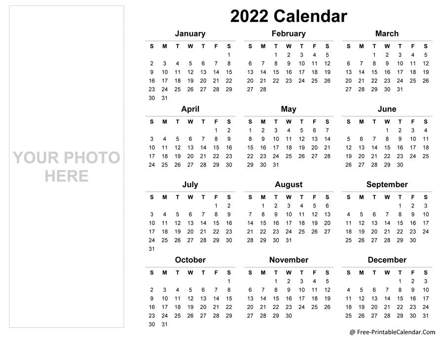 Microsoft Calendar Template 2022