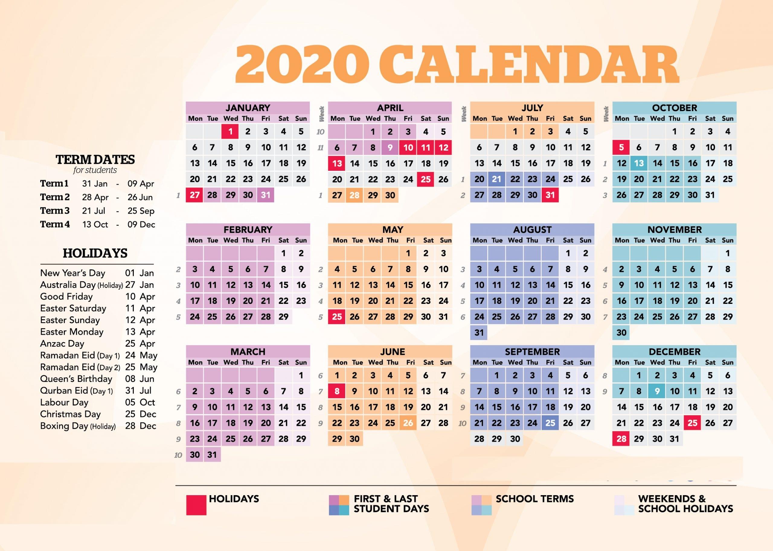 [%Nsw Calendar 2020 With Holidays [Australia] Australia School Calendar 2022 Australia School Calendar 2022%]