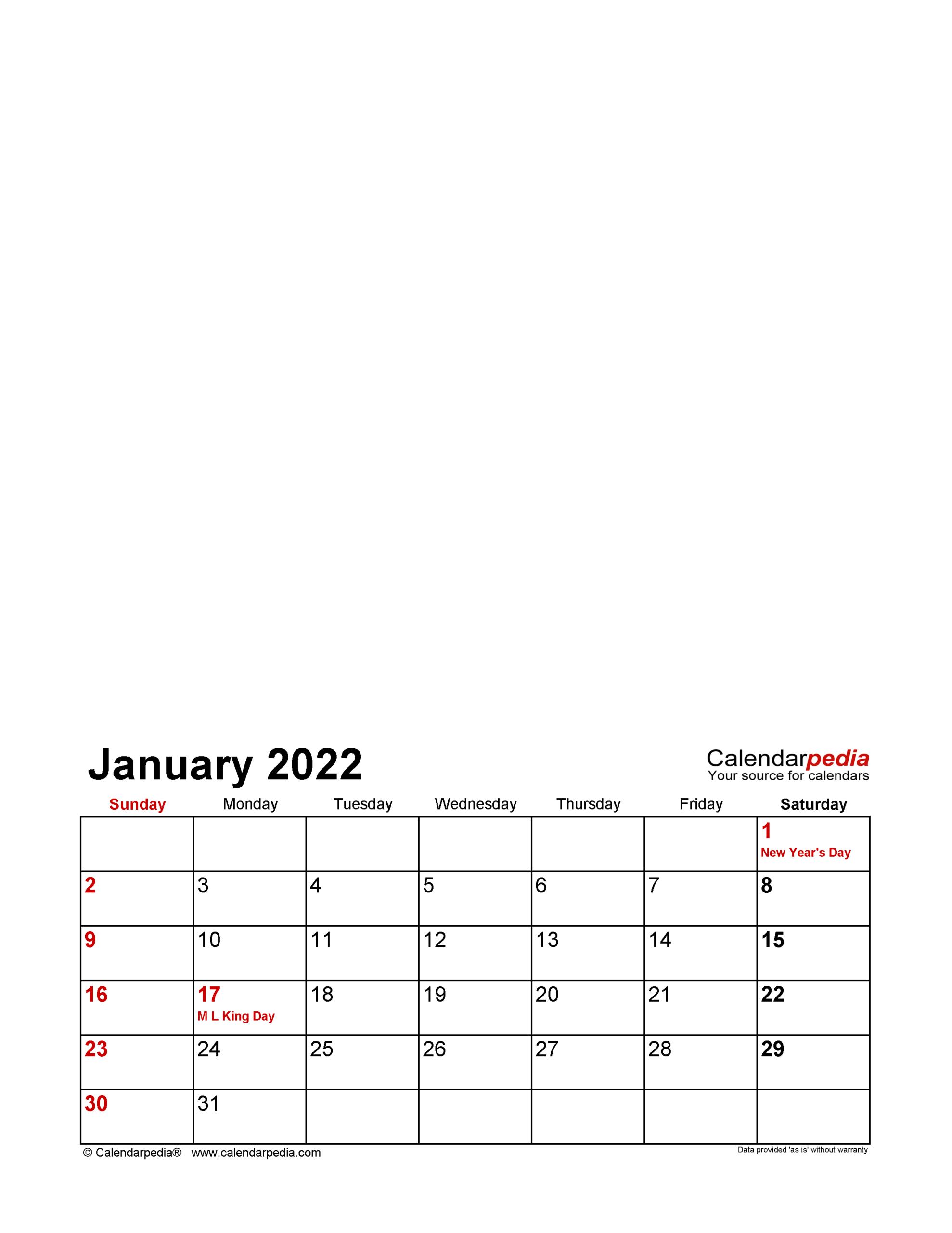 Photo Calendar 2022 - Free Printable Pdf Templates