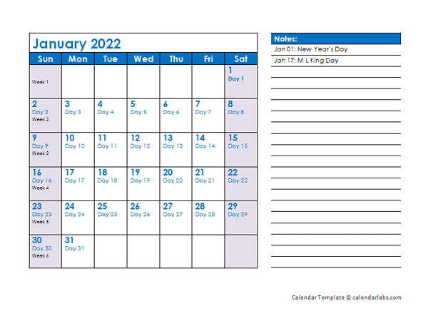 Save The Date Calendar Template 2022 Free