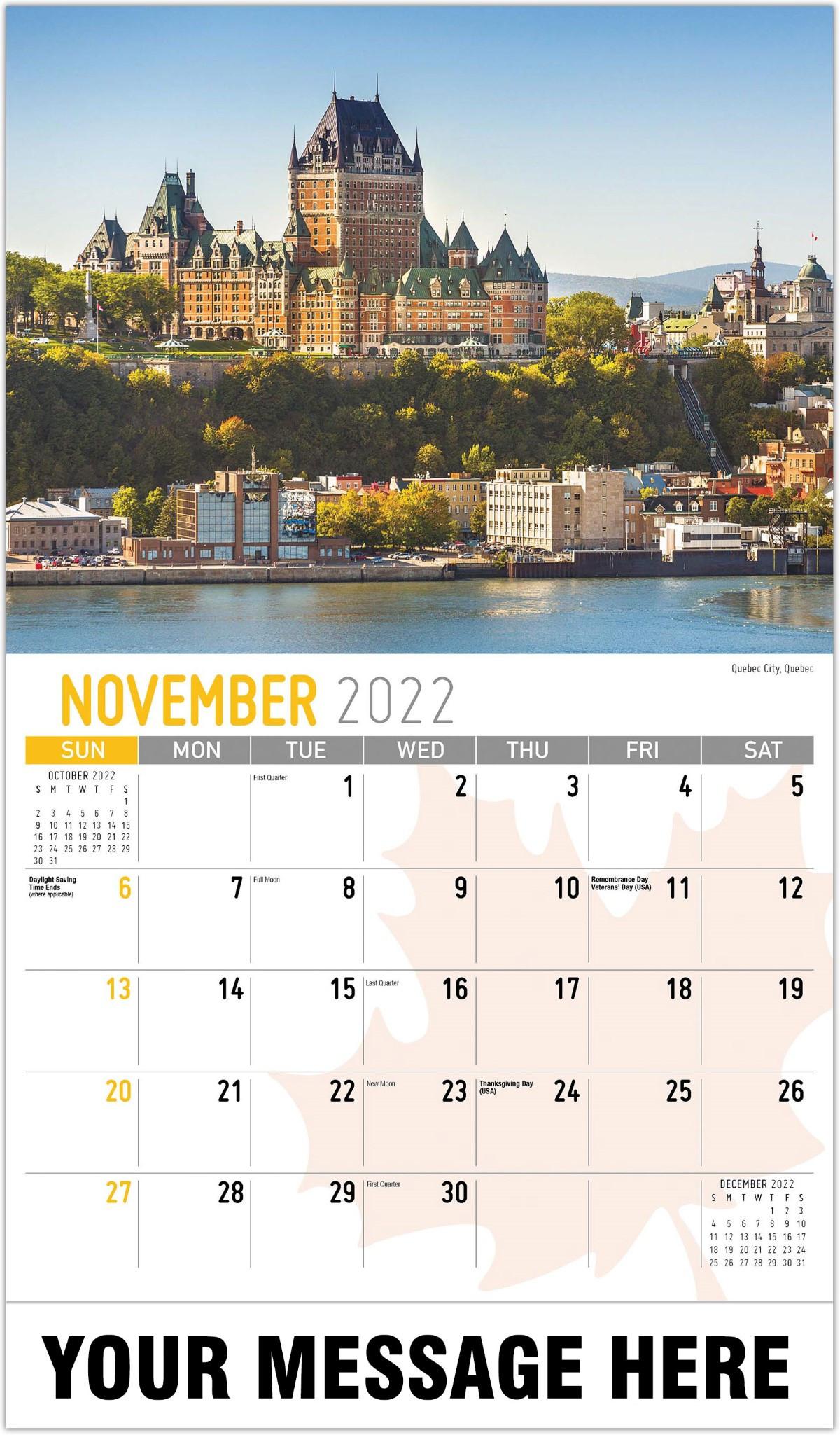 Scenes Of Canada - 2022 Promotional Calendar