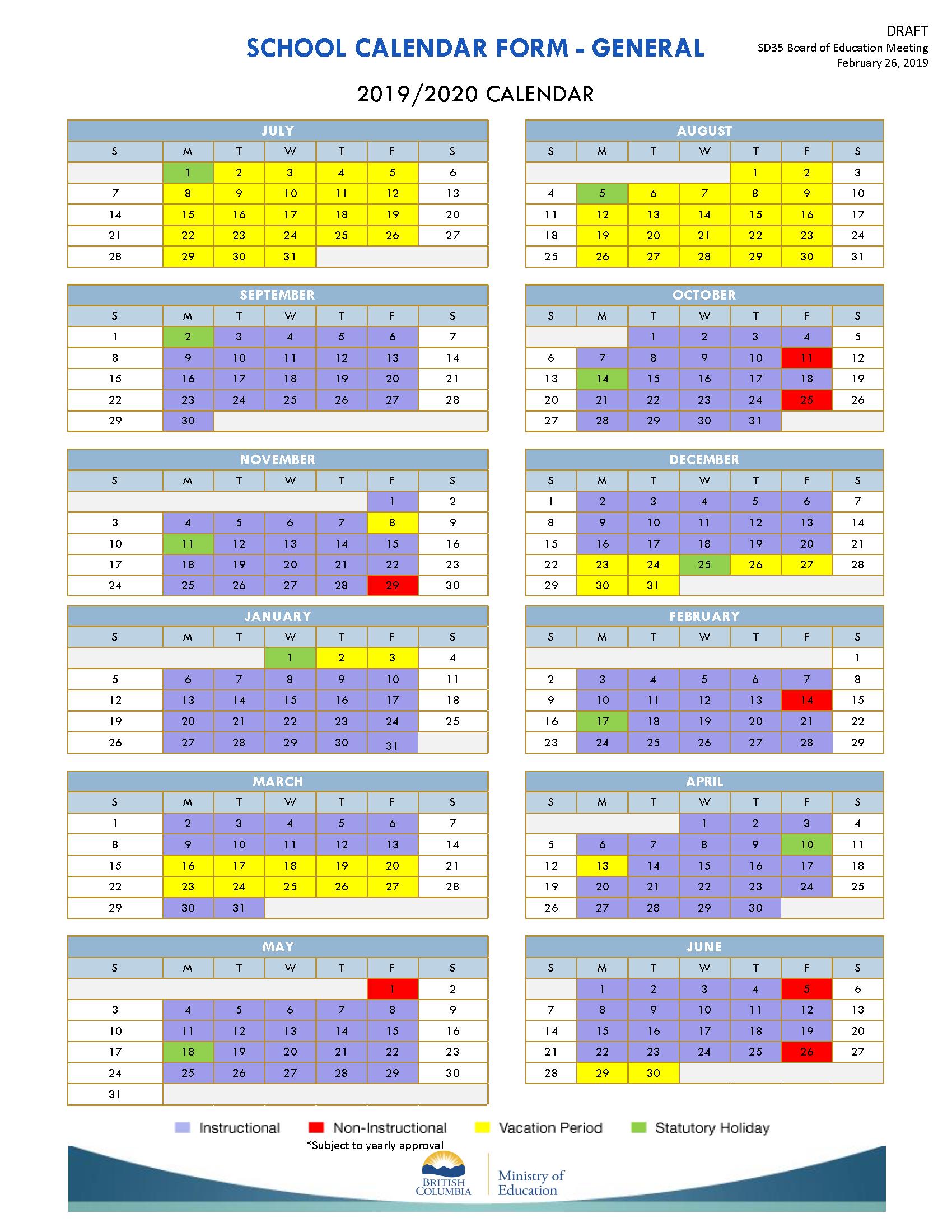 School Days Calendar 2022