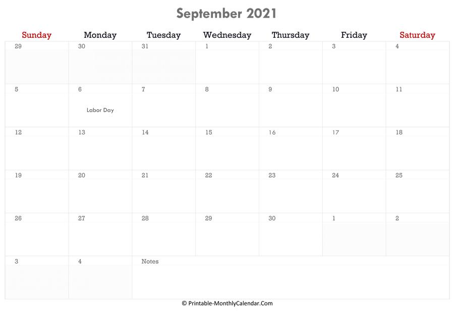 September 2022 Calendar Canada