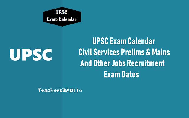 Upsc Exam Calendar 2019: Civil Services Prelims On 2Nd June, Mains In September 2019