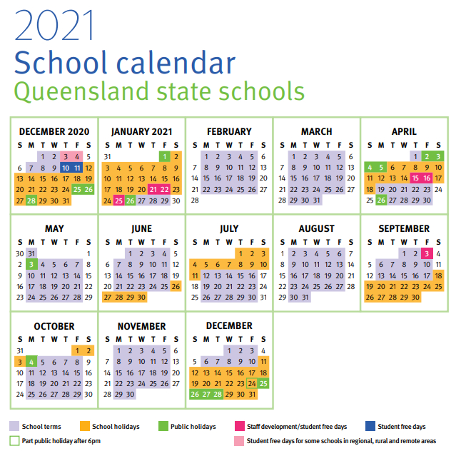 What Are School Holidays For 2021