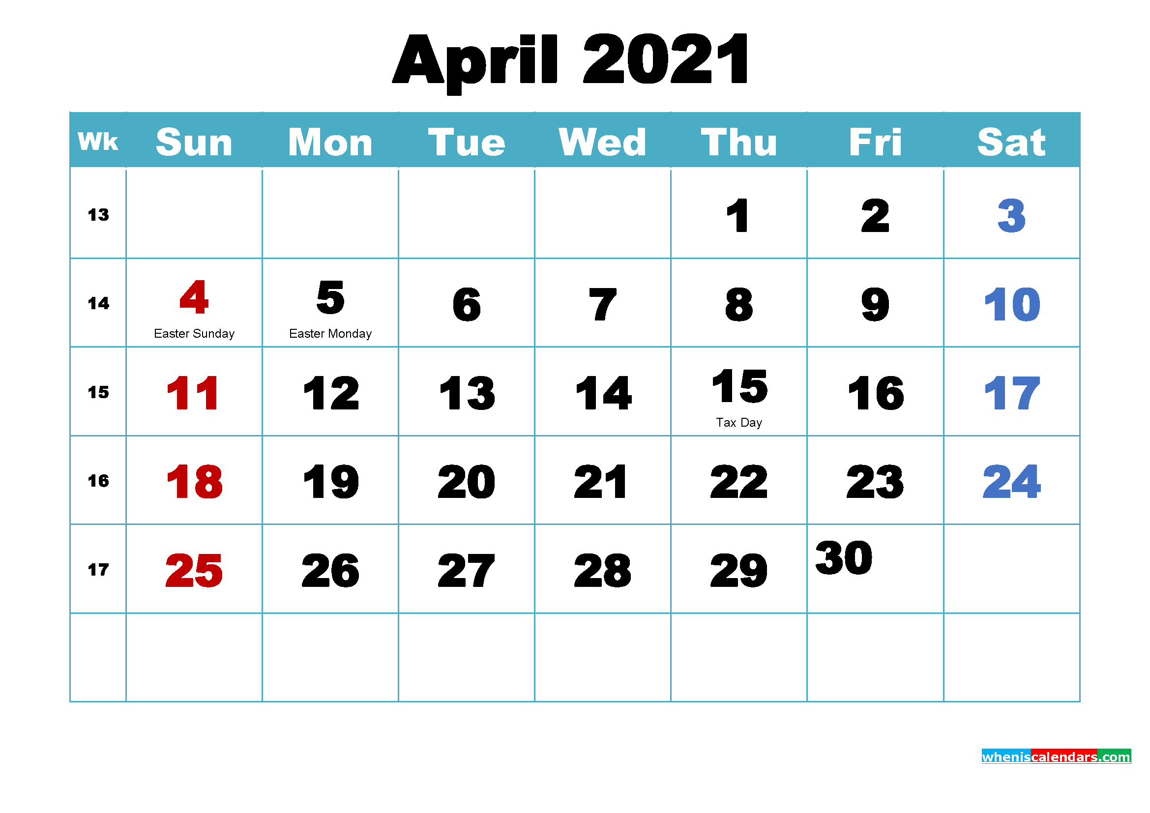 What Will Happen In April 2021