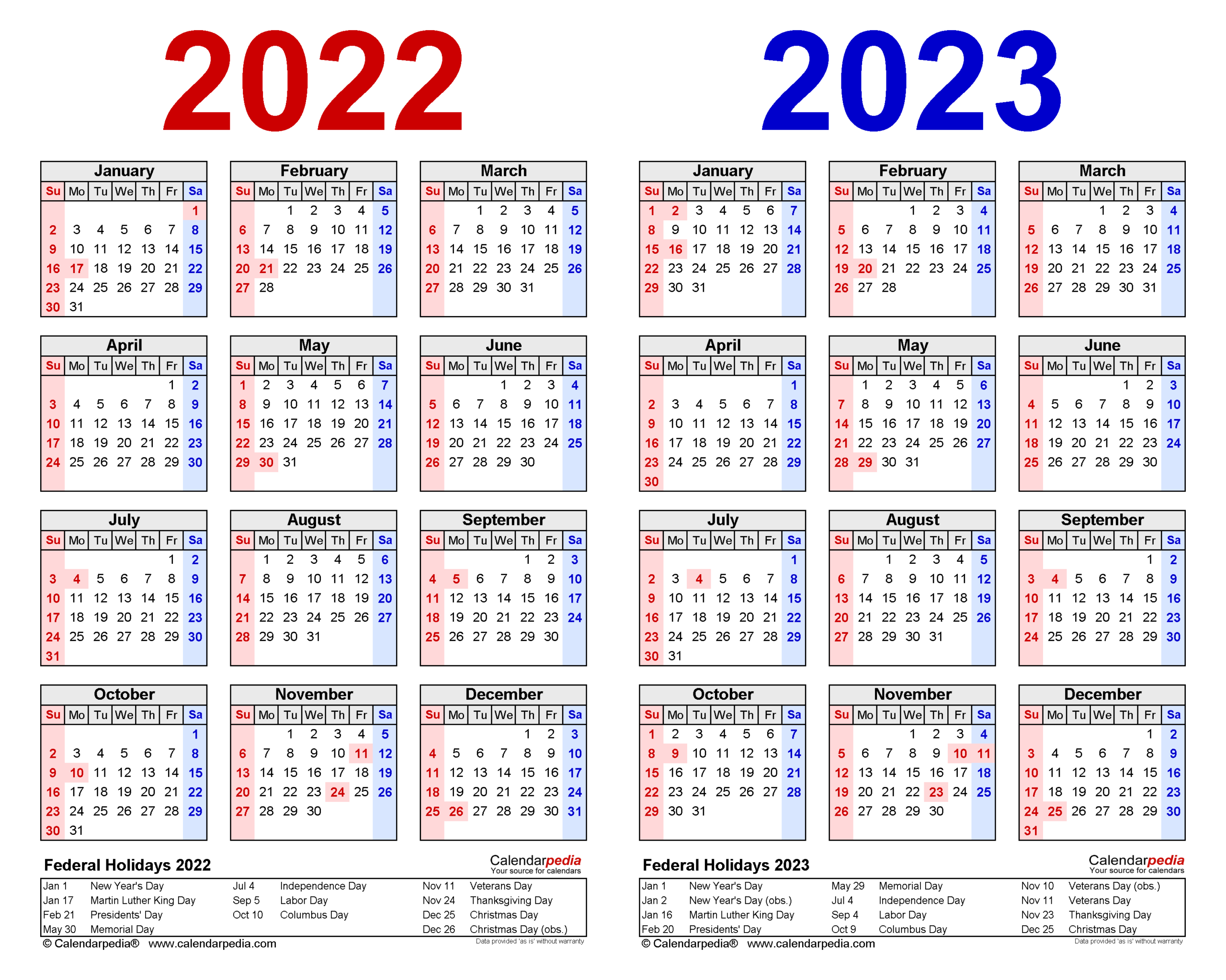 Year 2022 Calendar In Excel