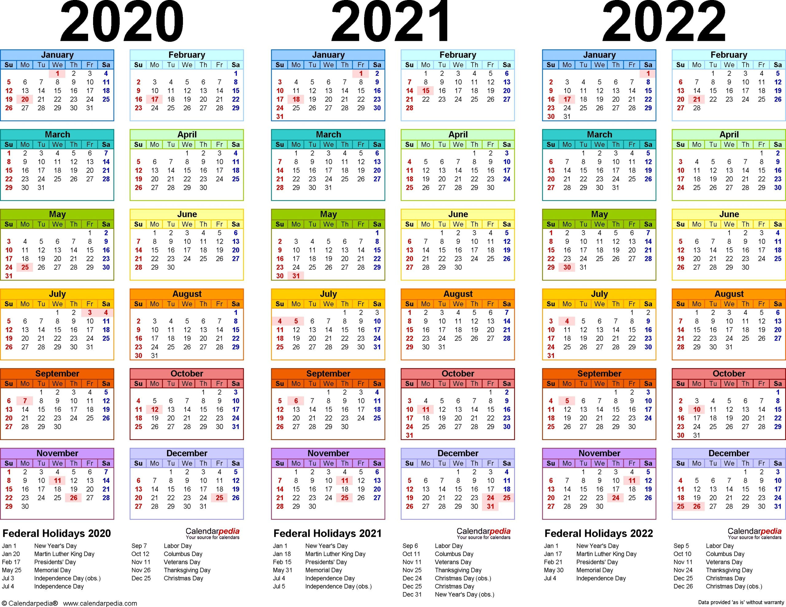 Yearly Calendar 2022 Excel