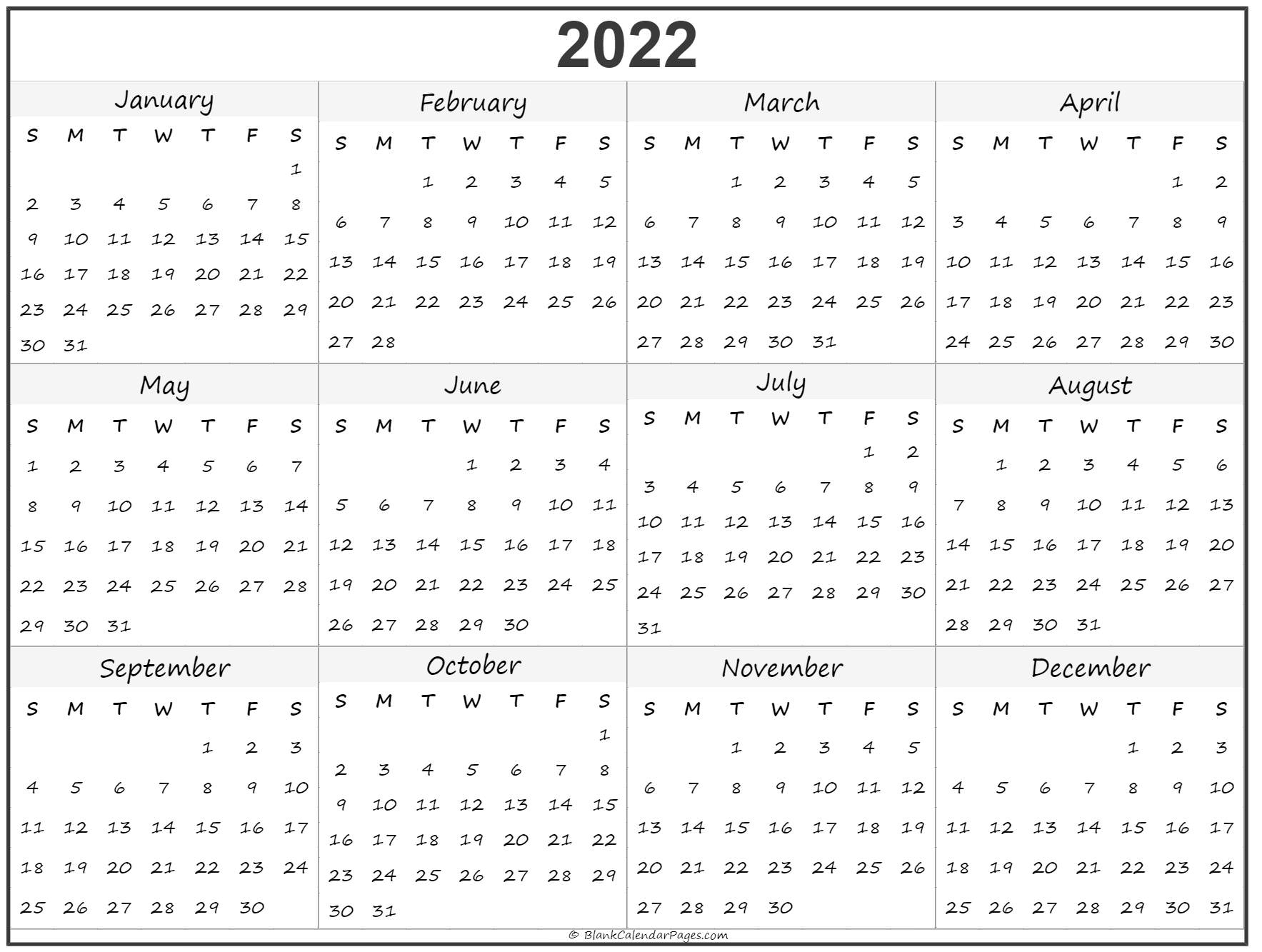 Yearly Printable